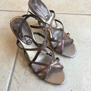 Banana Republic Bronze Heeled Sandals
